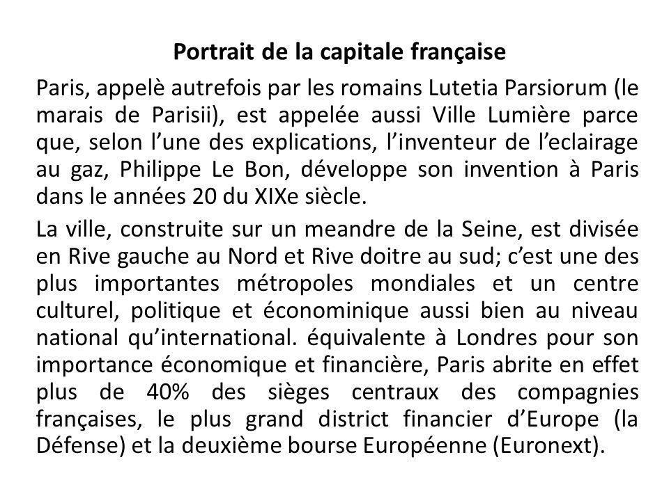 Portrait de la capitale franҫaise