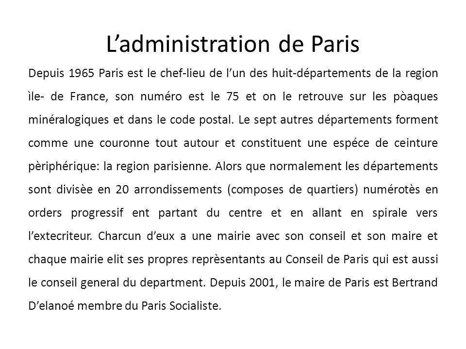 L'administration de Paris