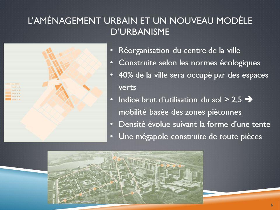 L'aménagement urbain et un nouveau modèle d'urbanisme