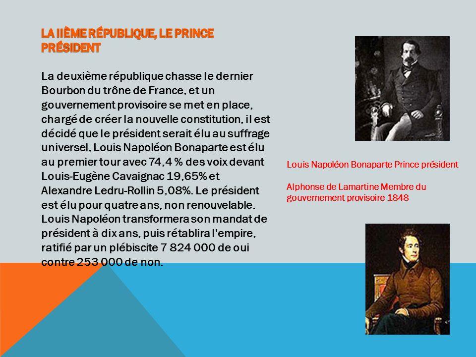 LA IIÈME RÉPUBLIQUE, LE PRINCE PRÉSIDENT