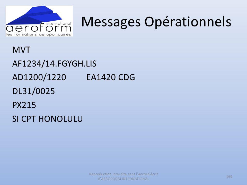 Messages Opérationnels