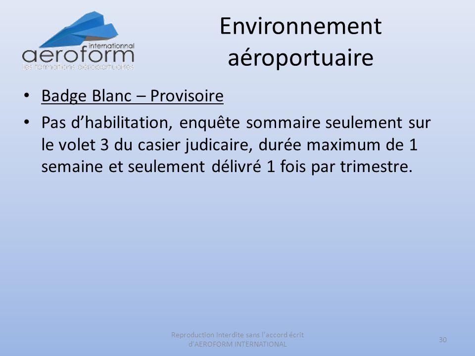 Environnement aéroportuaire