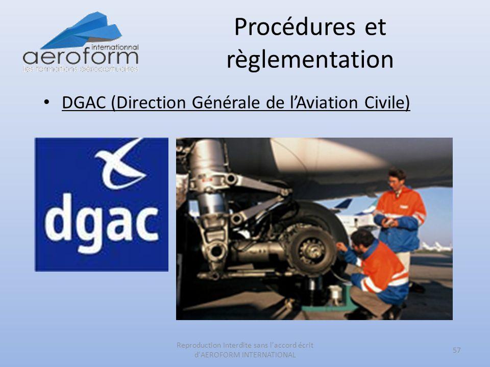Procédures et règlementation