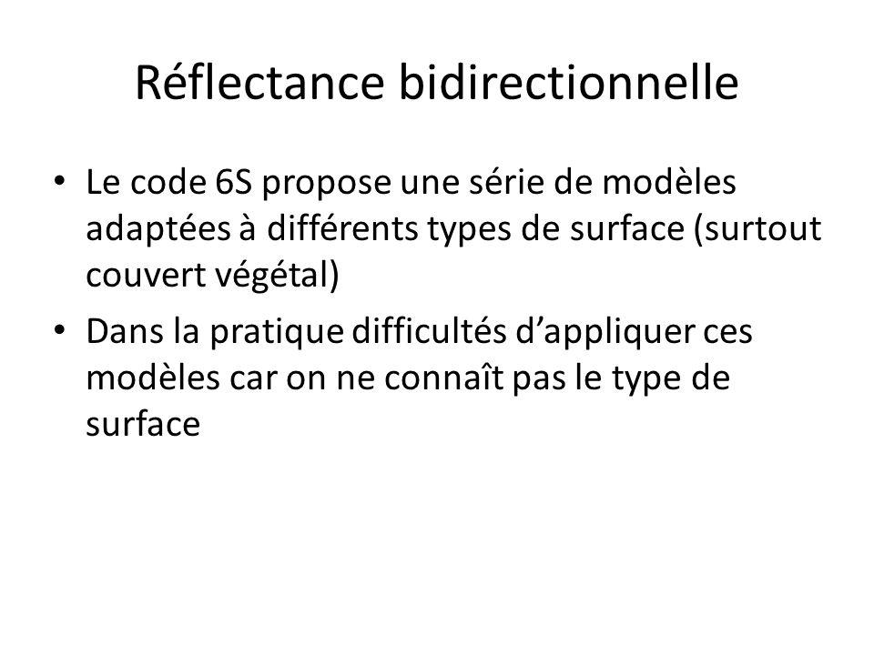 Réflectance bidirectionnelle