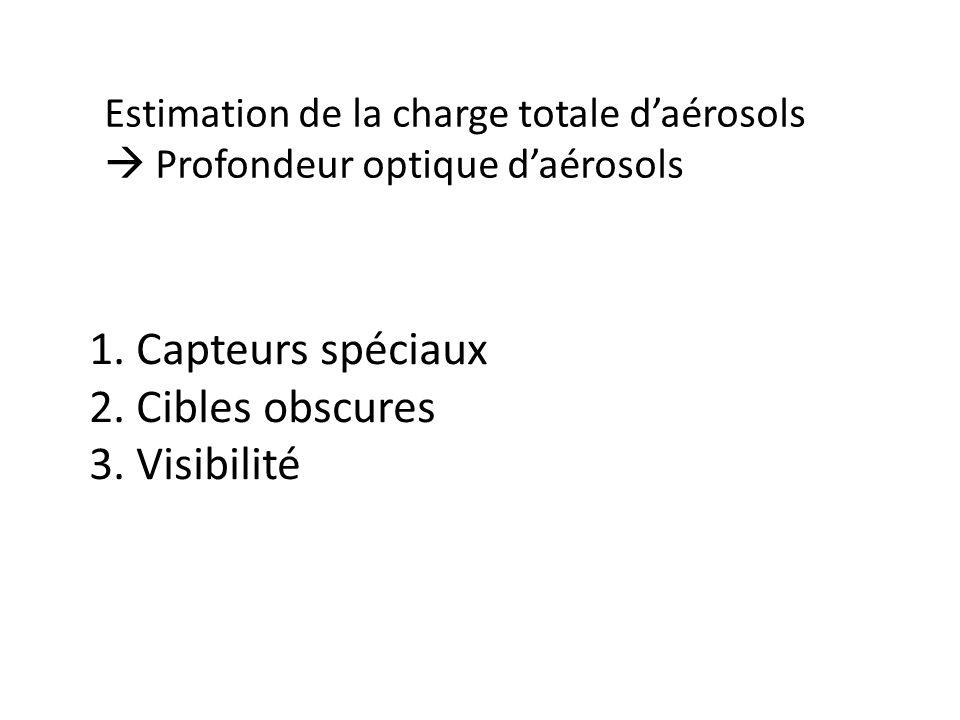 1. Capteurs spéciaux 2. Cibles obscures 3. Visibilité