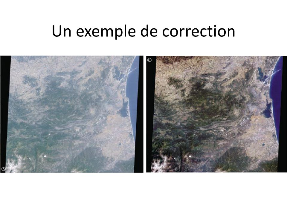 Un exemple de correction