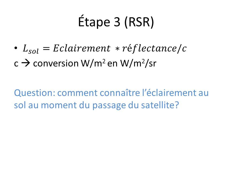 Étape 3 (RSR) 𝐿 𝑠𝑜𝑙 =𝐸𝑐𝑙𝑎𝑖𝑟𝑒𝑚𝑒𝑛𝑡 ∗𝑟é𝑓𝑙𝑒𝑐𝑡𝑎𝑛𝑐𝑒/𝑐