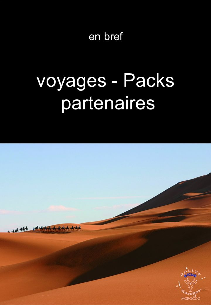 en bref voyages - Packs partenaires