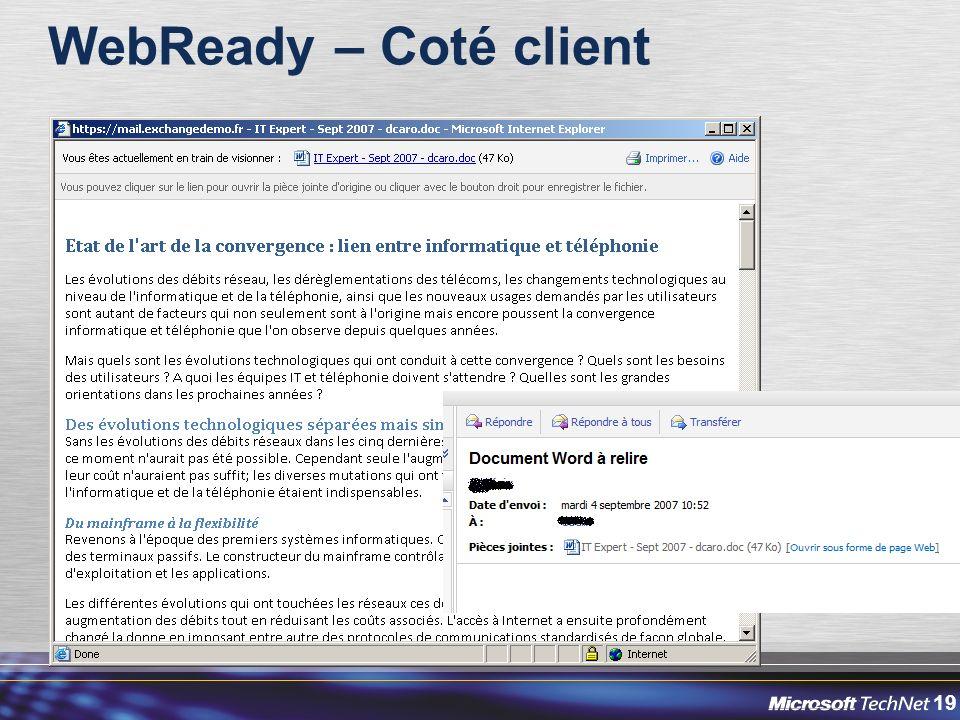 WebReady – Coté client