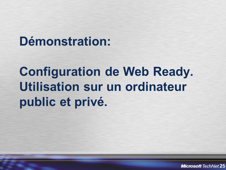 Démonstration: Configuration de Web Ready