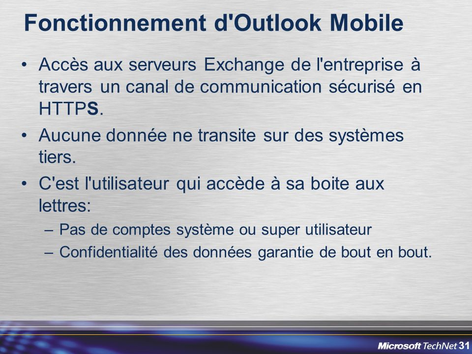 Fonctionnement d Outlook Mobile