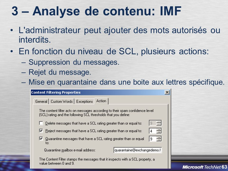 3 – Analyse de contenu: IMF