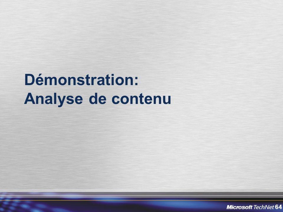 Démonstration: Analyse de contenu