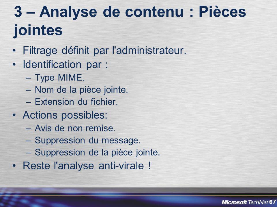 3 – Analyse de contenu : Pièces jointes