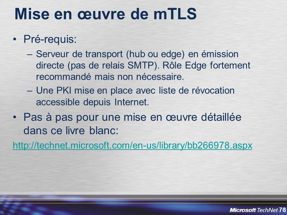 Mise en œuvre de mTLS Pré-requis: