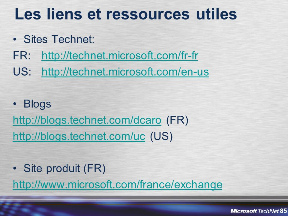 Les liens et ressources utiles