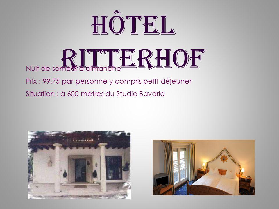 Hôtel Ritterhof Nuit de samedi à dimanche