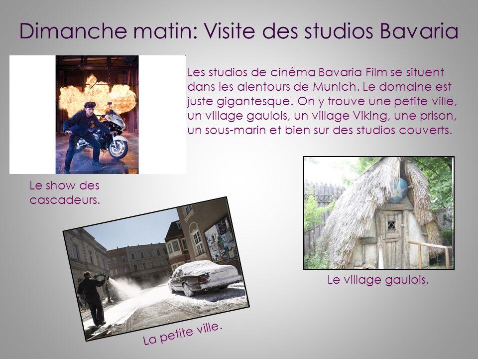Dimanche matin: Visite des studios Bavaria
