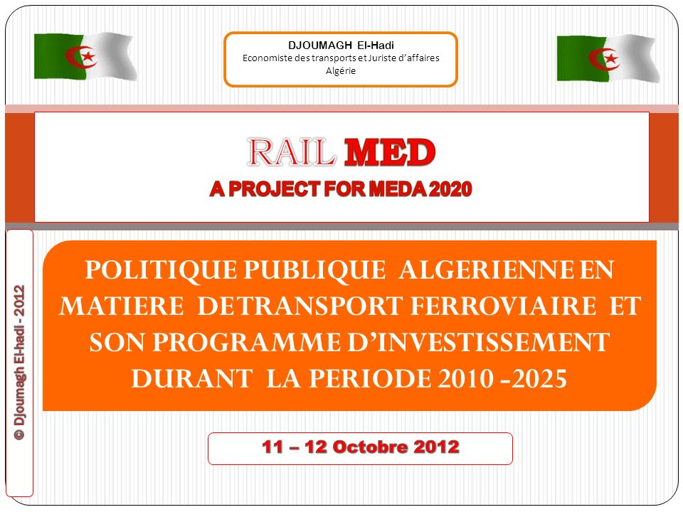 RAIL MED A PROJECT FOR MEDA 2020