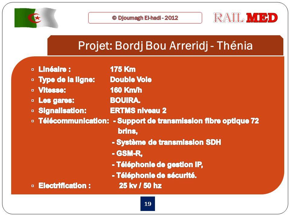 Projet: Bordj Bou Arreridj - Thénia
