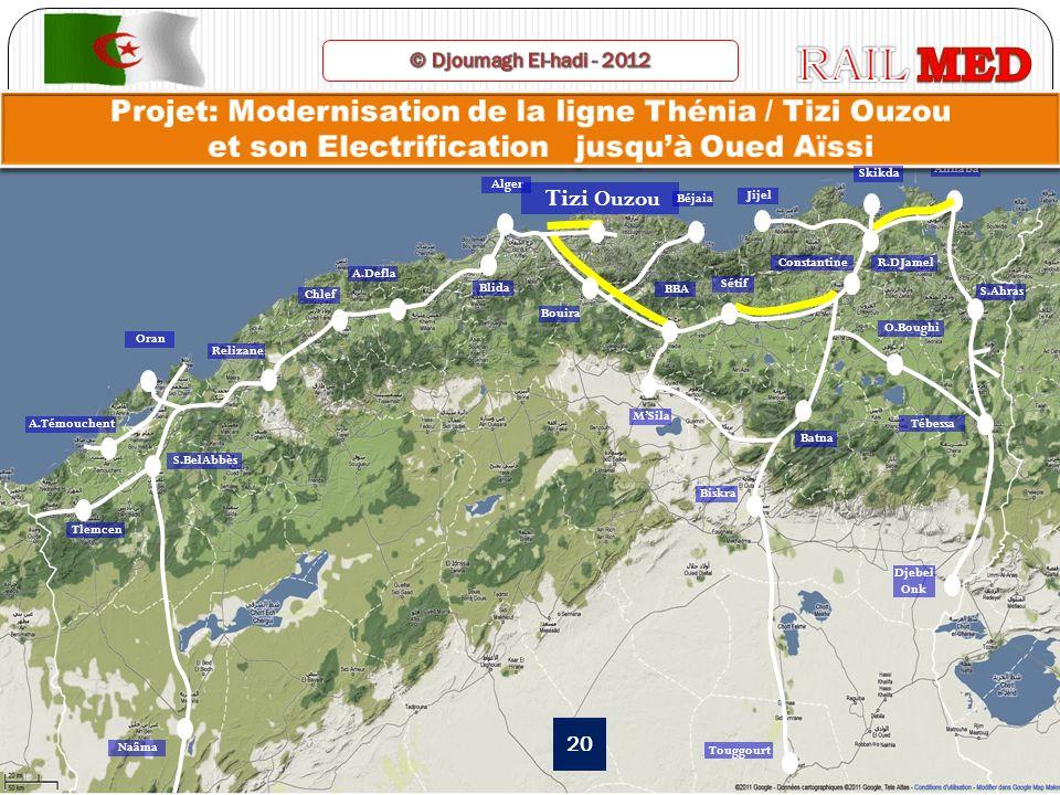 RAIL MED © Djoumagh El-hadi - 2012. Projet: Modernisation de la ligne Thénia / Tizi Ouzou et son Electrification jusqu'à Oued Aïssi.