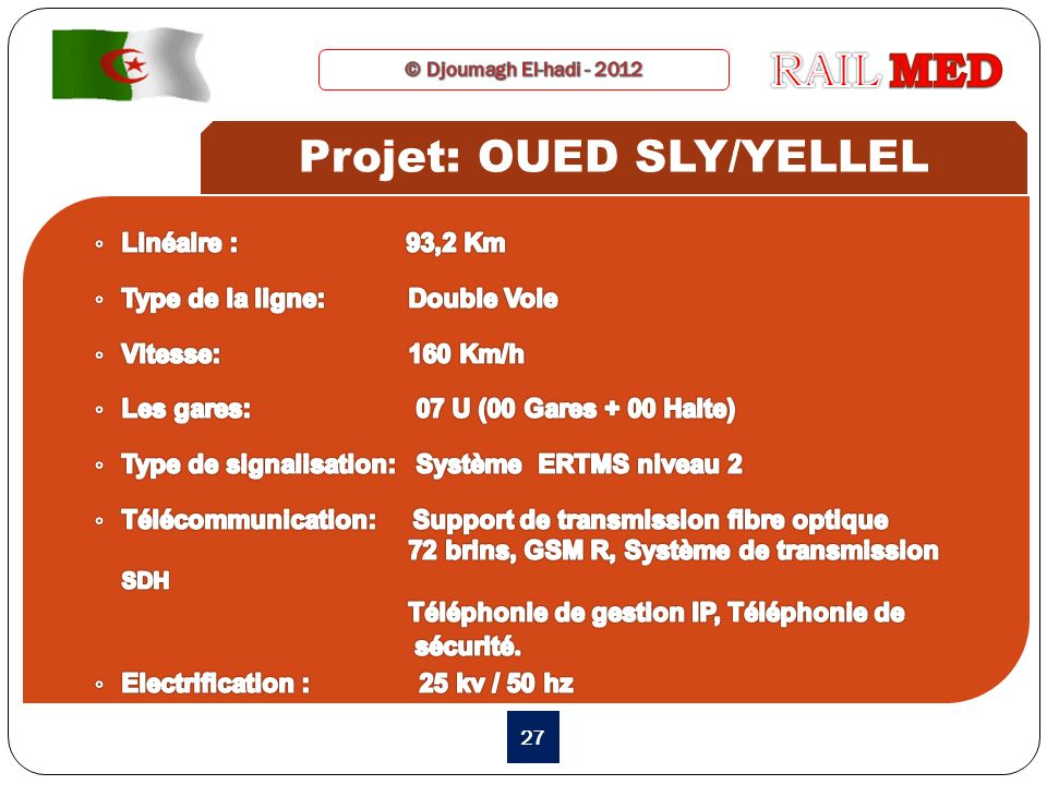 Projet: OUED SLY/YELLEL