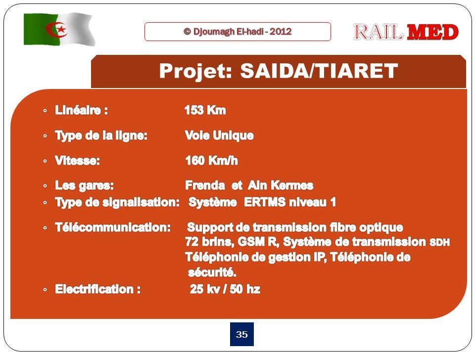 RAIL MED Projet: SAIDA/TIARET Linéaire : 153 Km