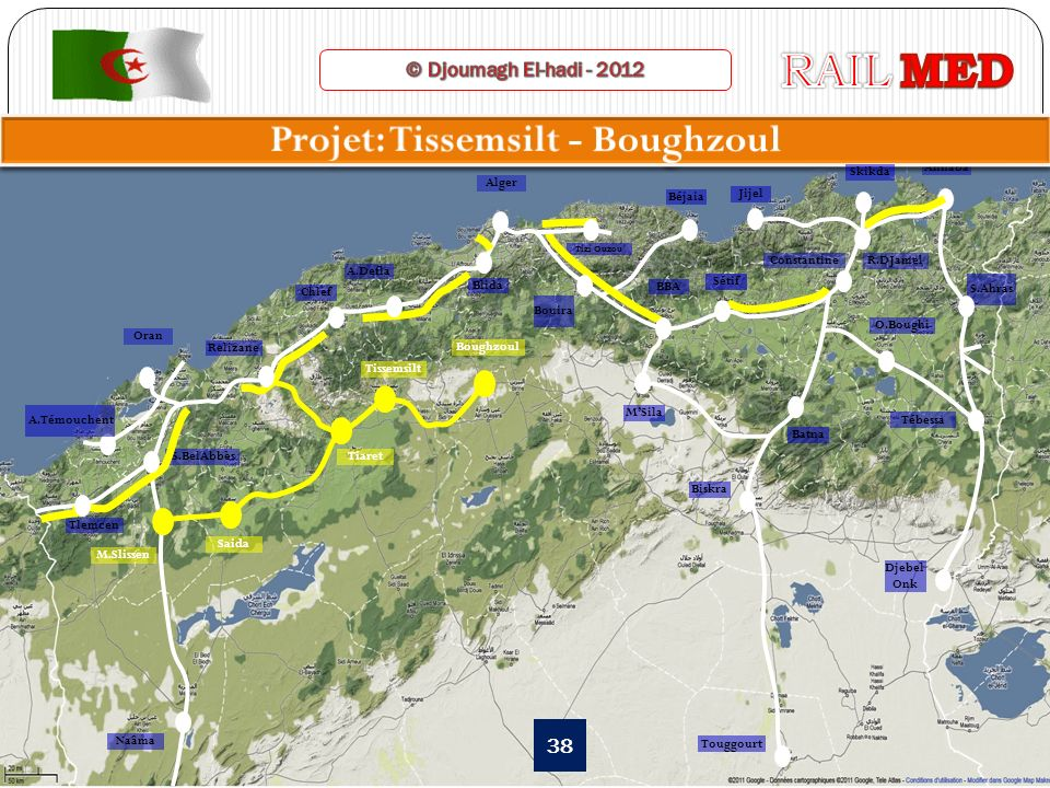 Projet: Tissemsilt - Boughzoul