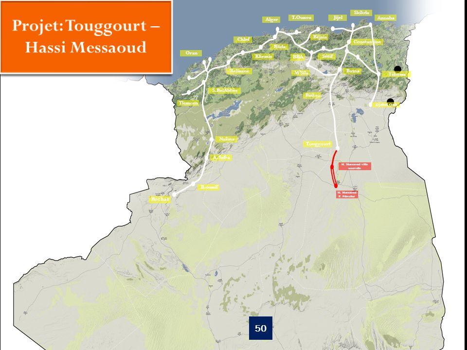 Projet: Touggourt – Hassi Messaoud H. Messaoud ville nouvelle