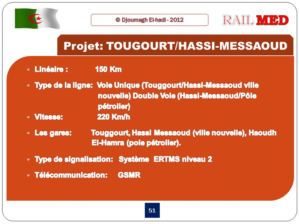 Projet: TOUGOURT/HASSI-MESSAOUD