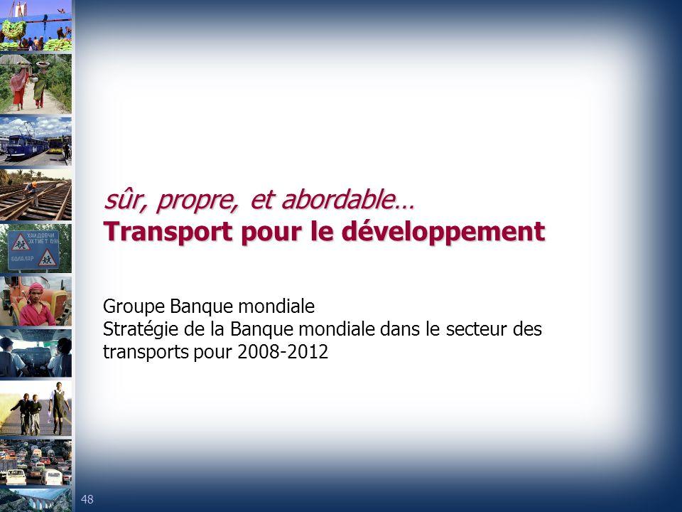 sûr, propre, et abordable… Transport pour le développement