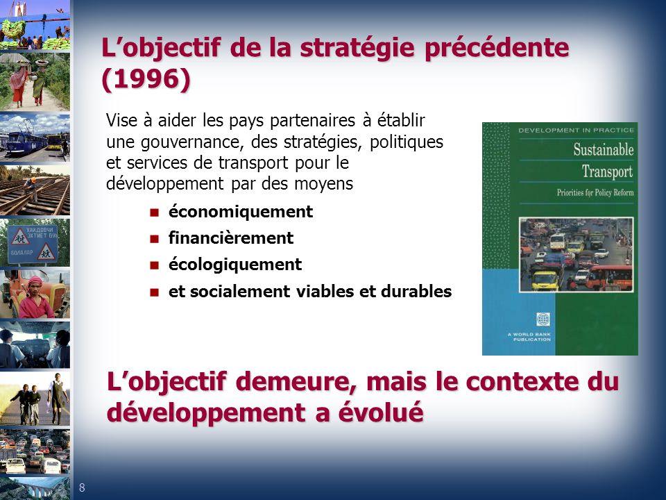 L'objectif de la stratégie précédente (1996)