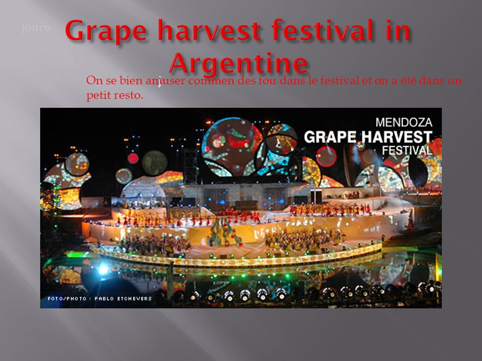 Grape harvest festival in Argentine