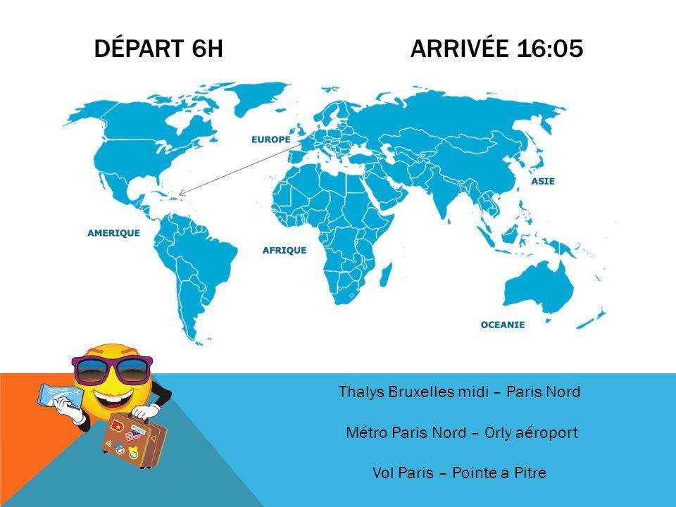 Départ 6h arrivée 16:05 Thalys Bruxelles midi – Paris Nord