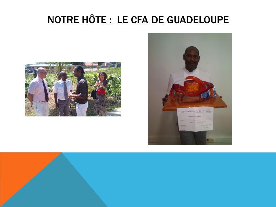 Notre hôte : le CFA de Guadeloupe