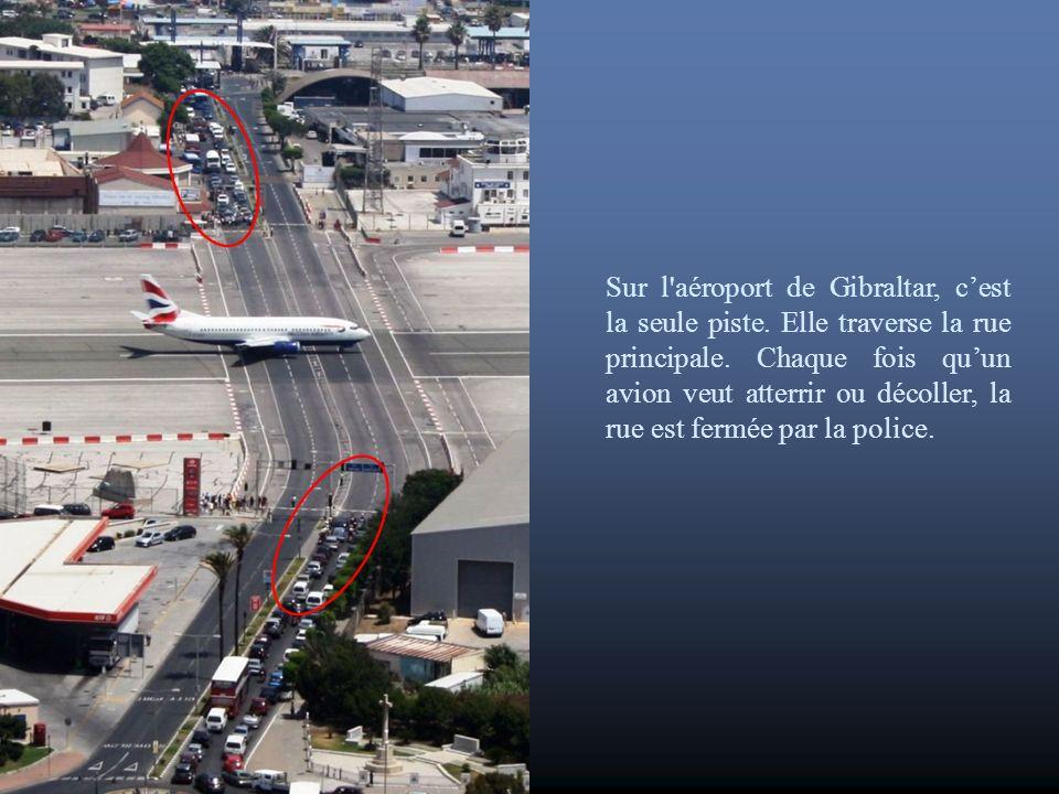Sur l aéroport de Gibraltar, c'est la seule piste