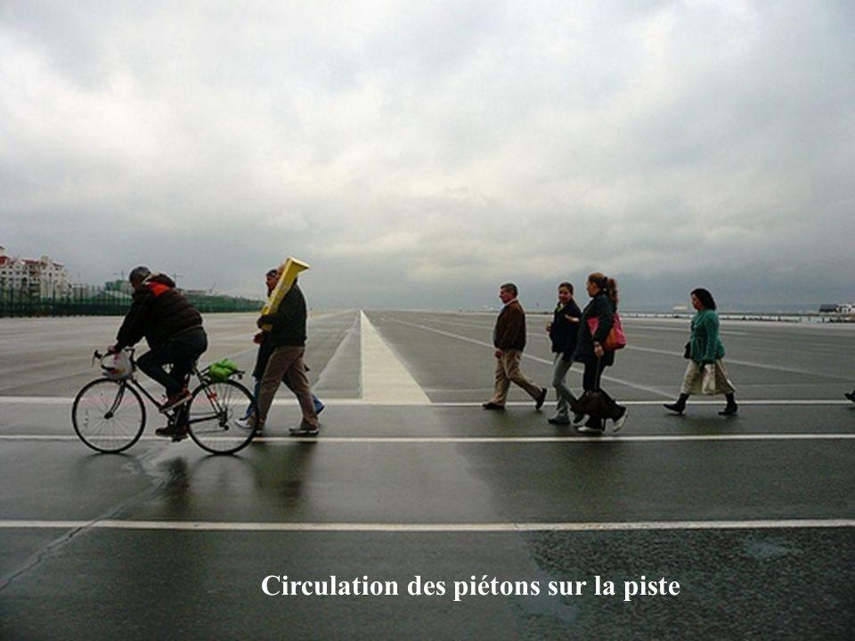 Circulation des piétons sur la piste