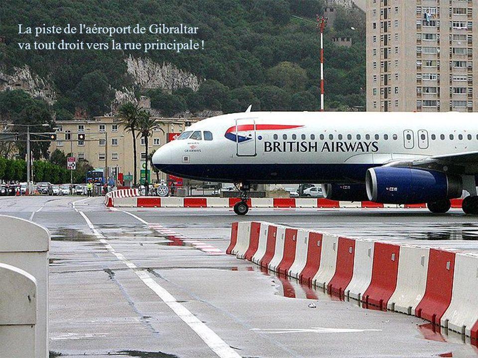 La piste de l aéroport de Gibraltar
