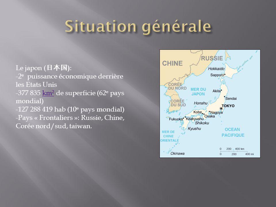 Situation générale Le japon (日本国):