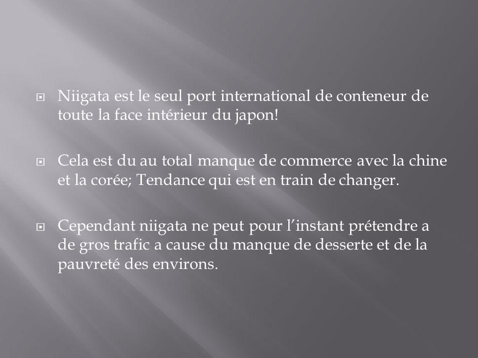 Niigata est le seul port international de conteneur de toute la face intérieur du japon!