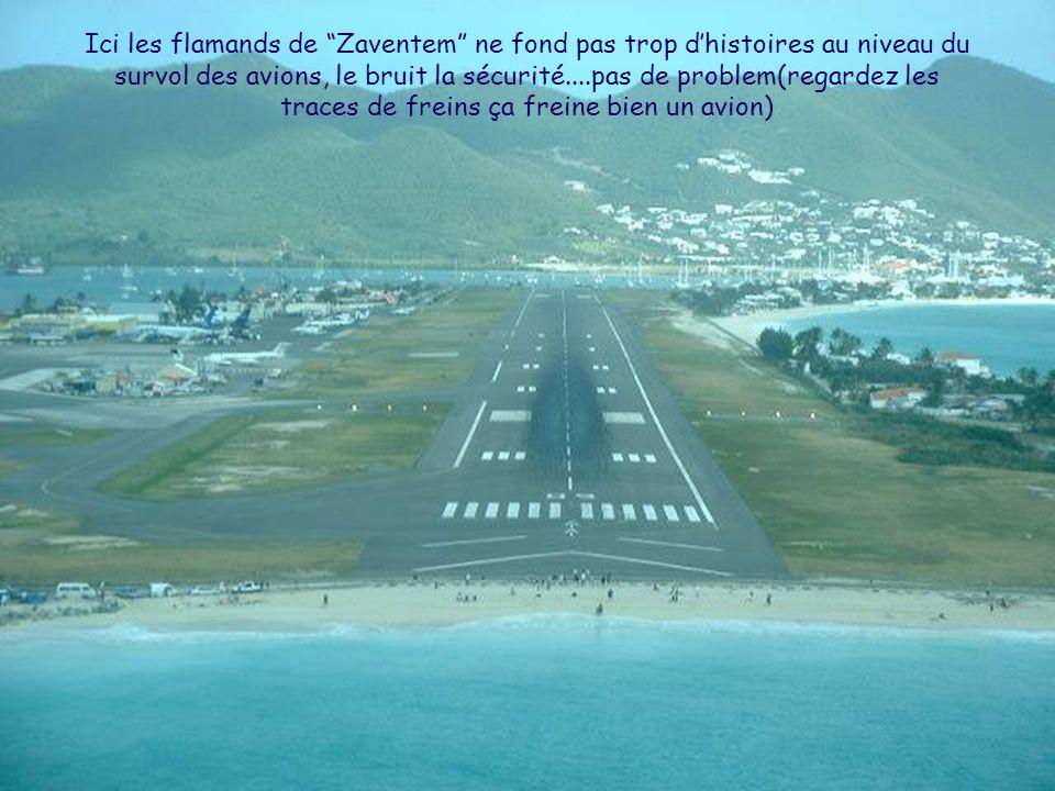 Ici les flamands de Zaventem ne fond pas trop d'histoires au niveau du survol des avions, le bruit la sécurité....pas de problem(regardez les traces de freins ça freine bien un avion)