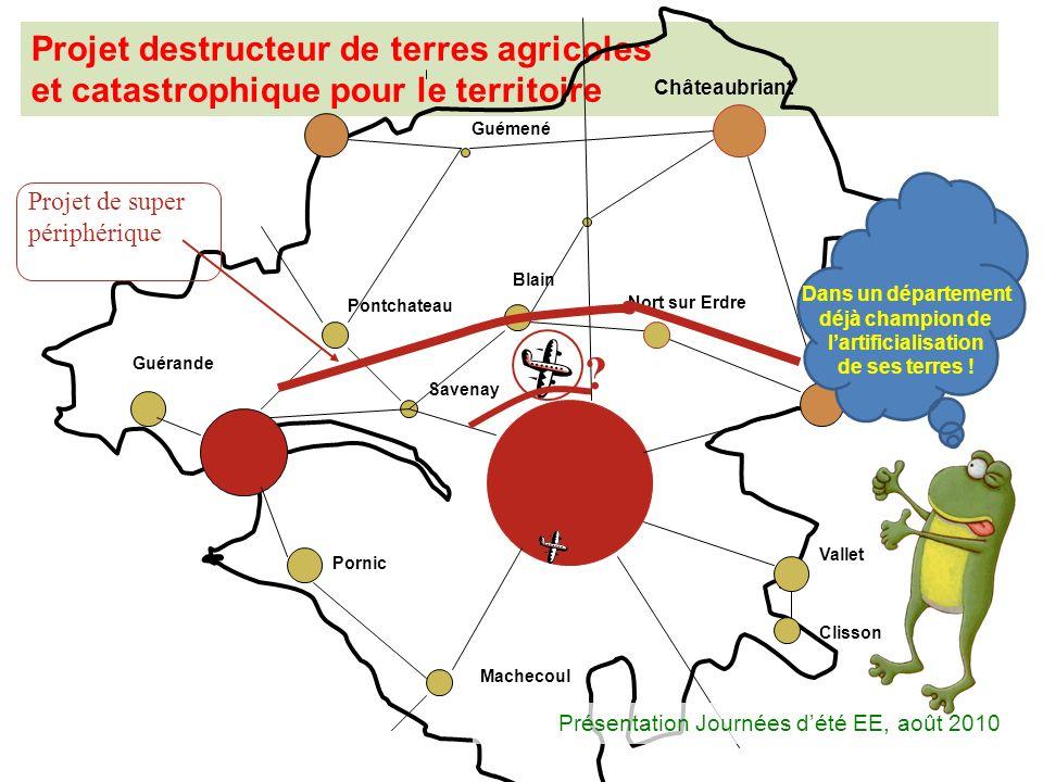 Projet destructeur de terres agricoles et catastrophique pour le territoire