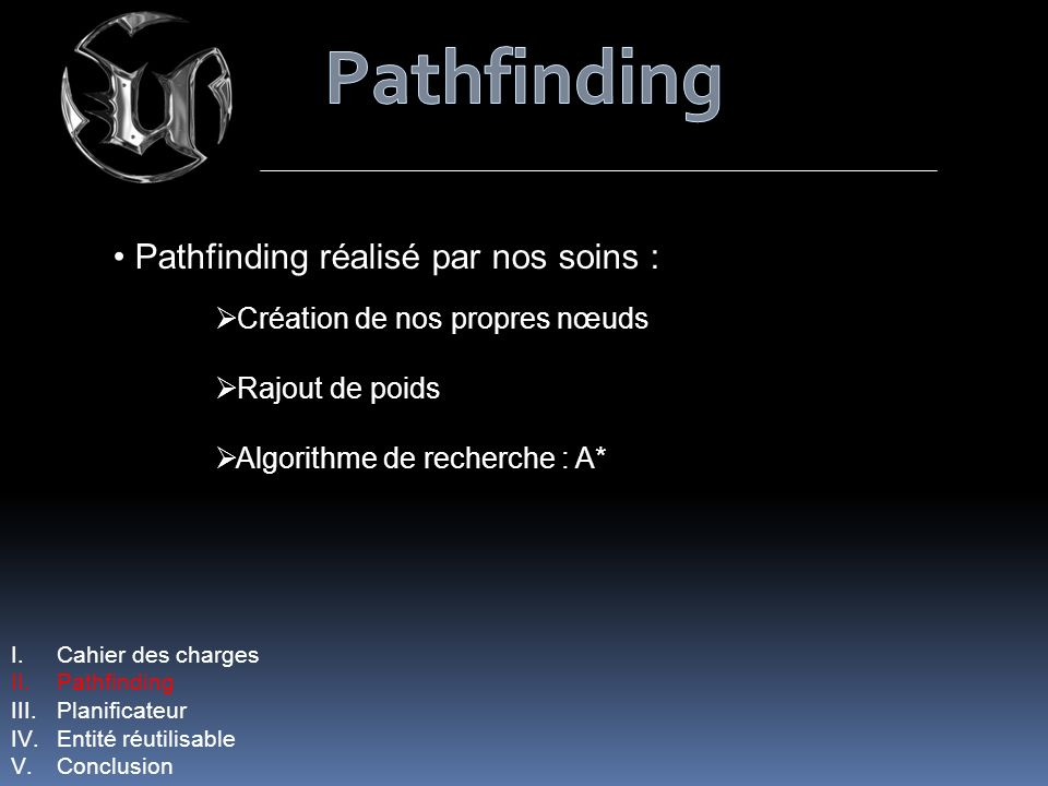 Pathfinding Pathfinding réalisé par nos soins :