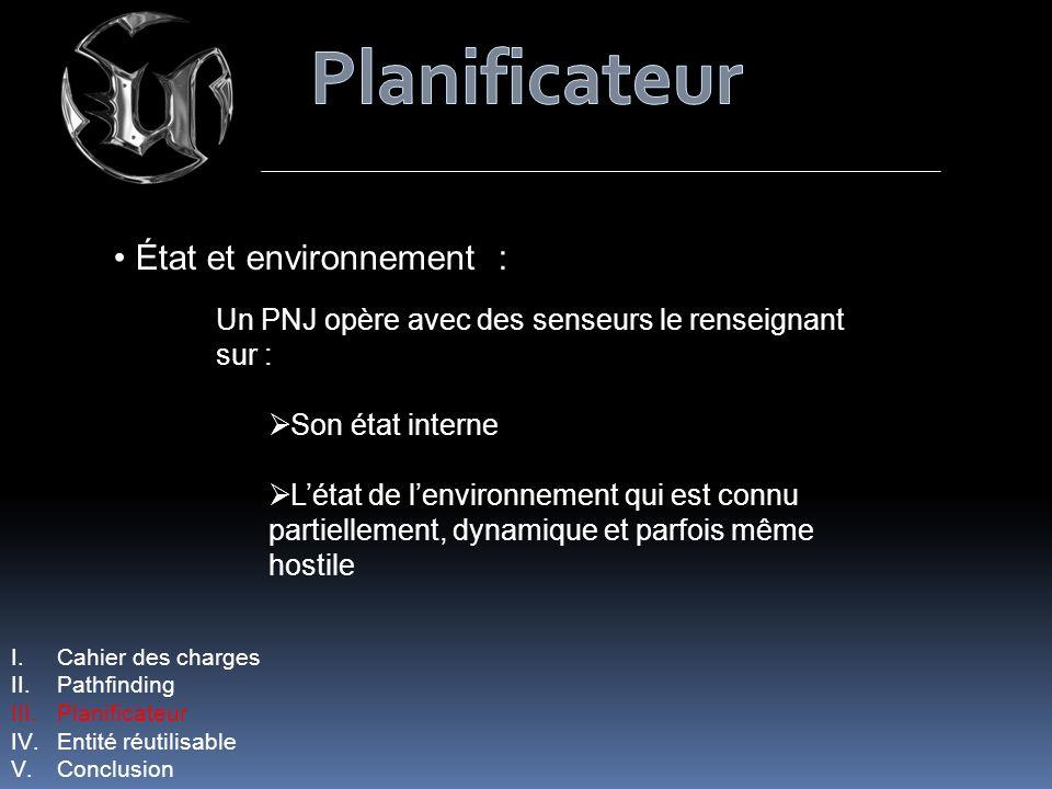 Planificateur État et environnement :