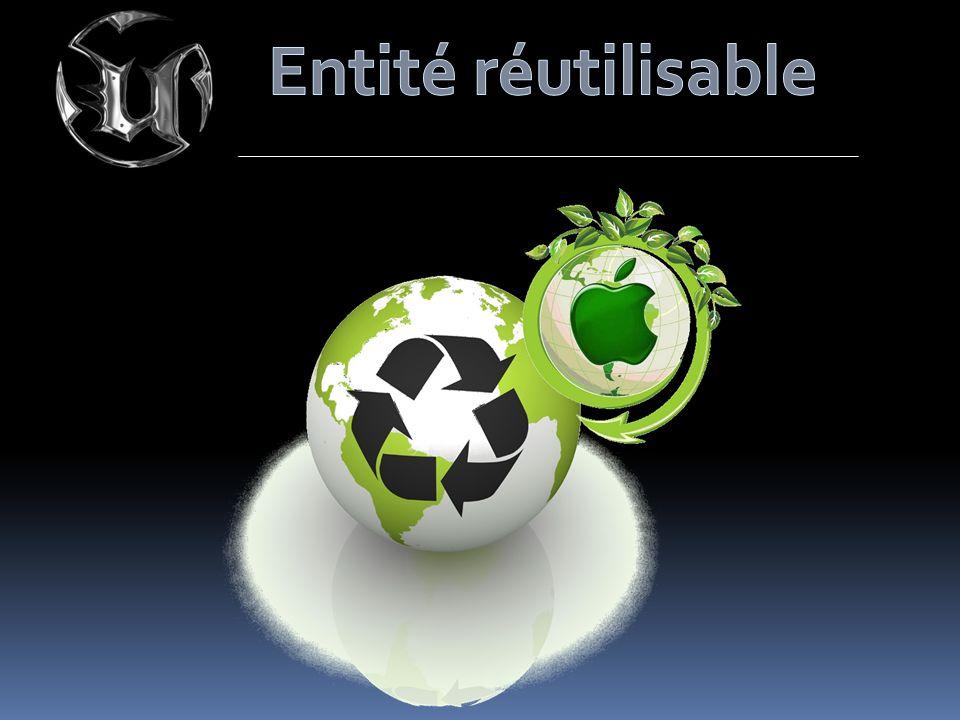 Entité réutilisable