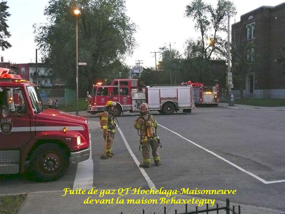 Fuite de gaz QT Hochelaga-Maisonneuve devant la maison Behaxeteguy