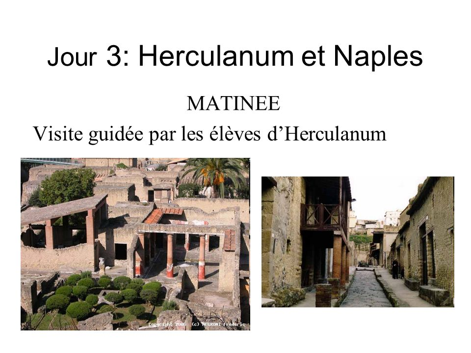 Jour 3: Herculanum et Naples