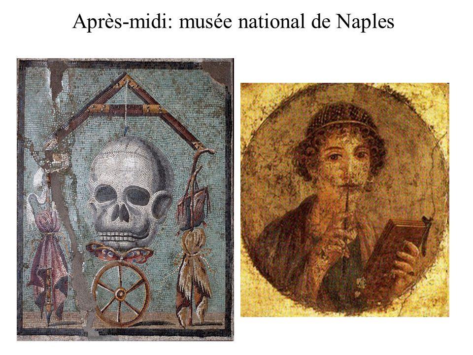 Après-midi: musée national de Naples