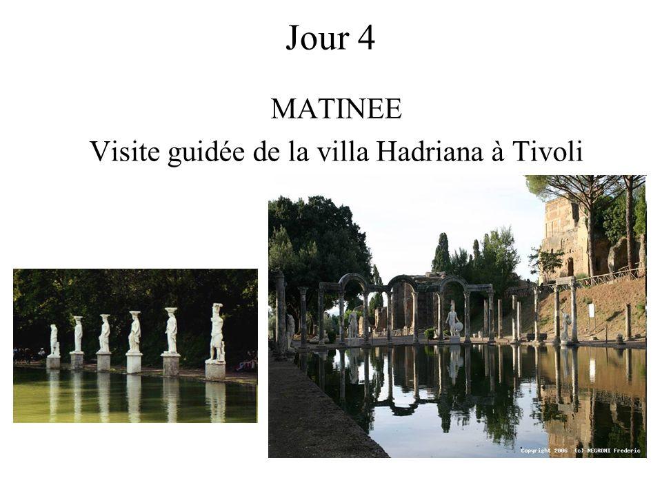 MATINEE Visite guidée de la villa Hadriana à Tivoli