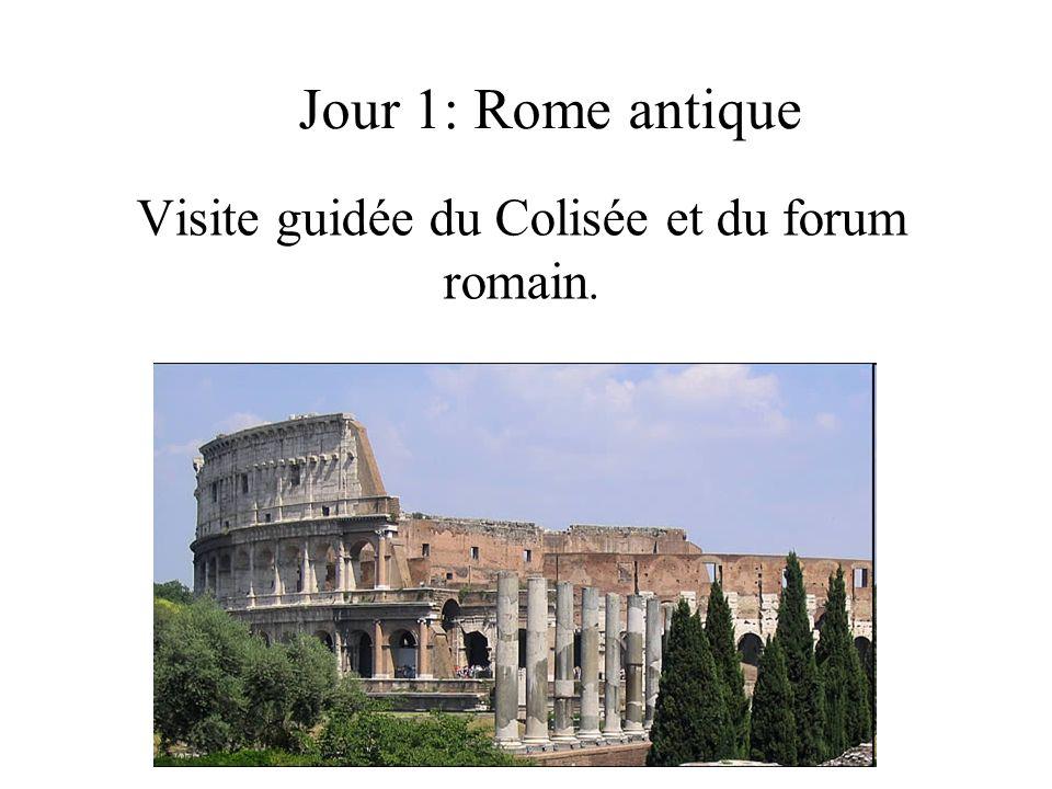Visite guidée du Colisée et du forum romain.